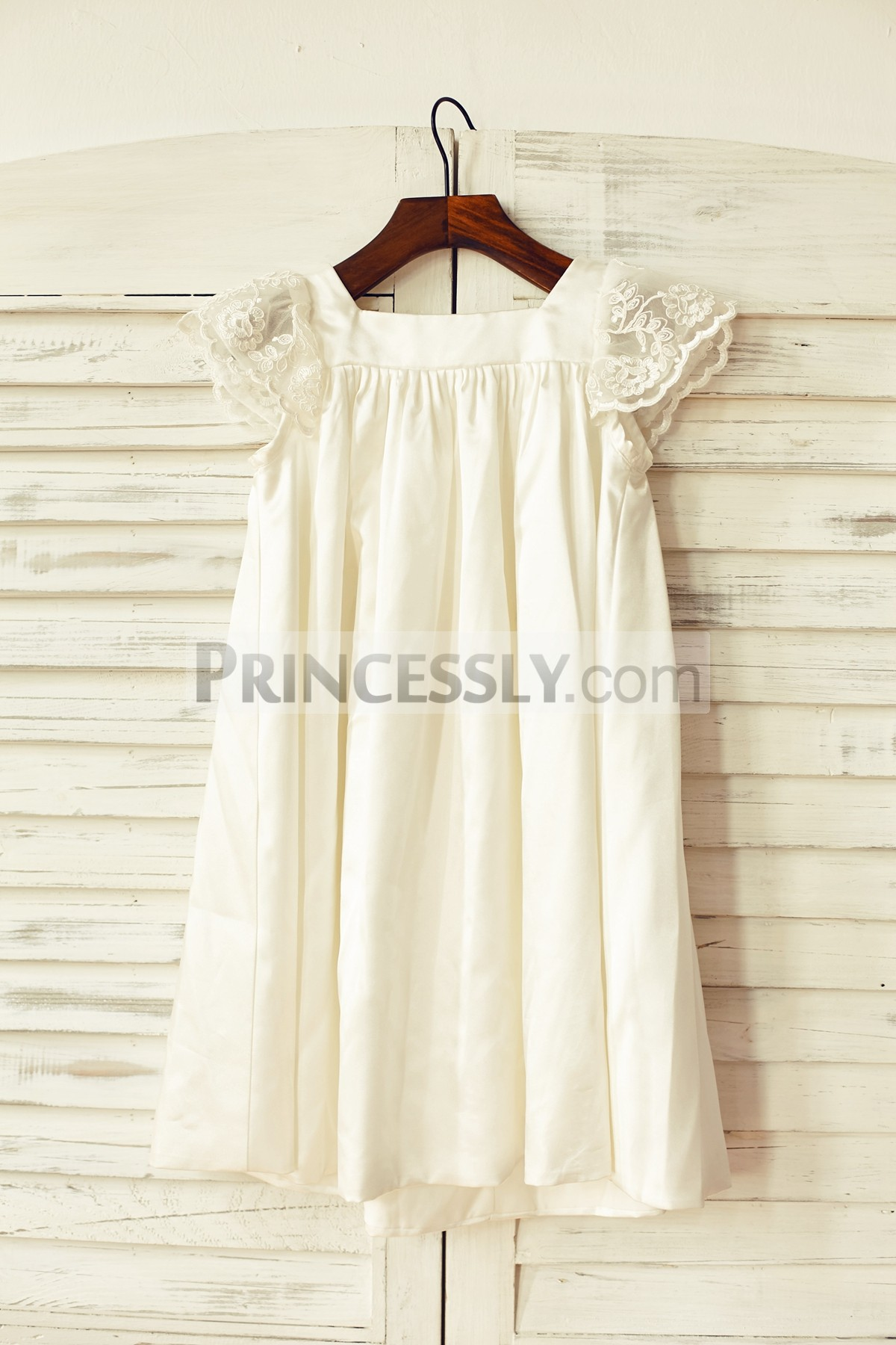 best collection great discount search for latest Babe Sheer Lace Cap Sleeves Ivory Satin Wedding Toddler Girl Dress
